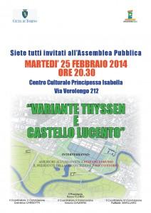 Città di Torino Circoscrizione 5 Variante Thyssen Castello di Lucento 25 febbraio 2014