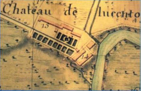 Chateau de Lucento, particolare mappa catasto napoleonico