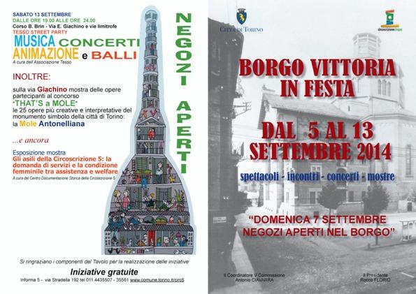 volantino Borgo Vittoria in festa 5-13 settembre 2014