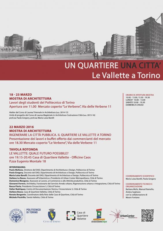 Locandina Un quartiere una città. Le Vallette a Torino, page 1