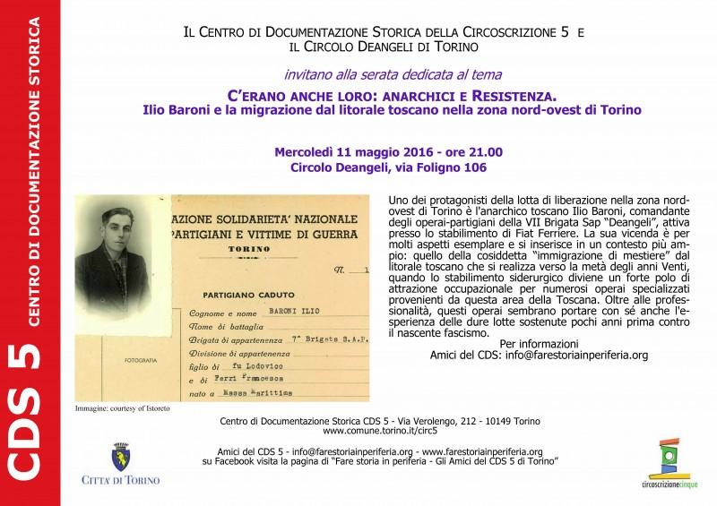 Volantino incontro CDS Anarchici e Resistenza per Liberazione 11-05-2016