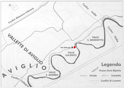 2 Voi siete QUI al castello di Lucento. Assetto stimato di Lucento con posizione visita guidata (XIII sec)