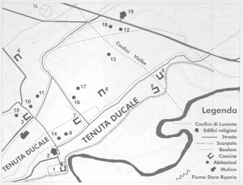 15 Case Rubatto. Ipotesi di redistribuzione dell'abitato di Lucento dopo le permute dei terreni
