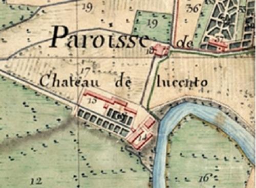 7 Pianta del Ricetto del castello di Lucento (Mappa dell'Ing G.B. Sappa inizio 1800)