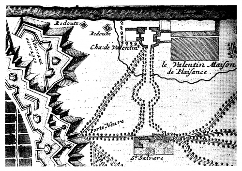 10 Mappa del Castello del Valentino e della chiesa di San Salvatore