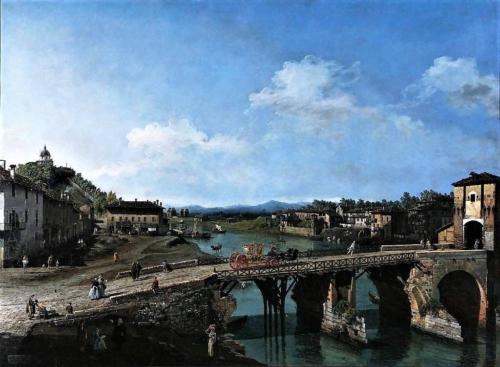17 Case Rubatto. Ponte sul Po di Bernardo Bellotto (~ 1745)
