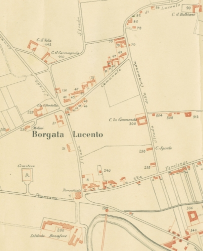 30 Mappa Lucento e limitrofa Borgata Ceronda (1892)